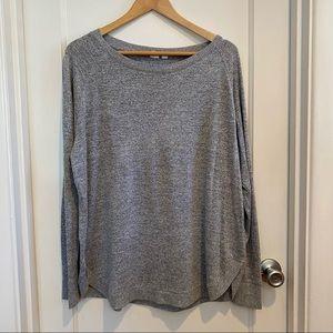 Gap Gray Long Sleeve Softspun Raglan Knit Top